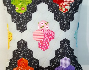 Quilted Modern Hexi Pillow Cover