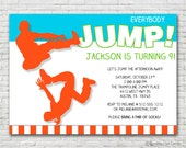Everybody Jump Birthday Invitation - Printable or Printed (w/ FREE Envelopes)