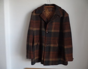 Men's Vintage Pendleton 100% Wool Jacket Coat XL