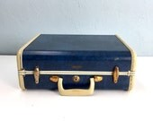 Vintage Blue Marble Samsonite Suitcase, Blue Suitcase, Vintage Suitcase, Suitcase Photo Prop, Vintage Samsonite, Stage Props, Suitcase Decor