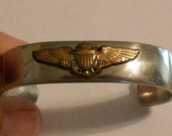Men's Bracelet with Navy Wings