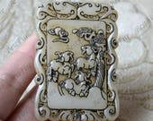 Carving Sheep Jade card Pendant Jade Pendant, carving dragon Jade Pendant Amulet Talisman,Jade Necklace Pendant Jewerly