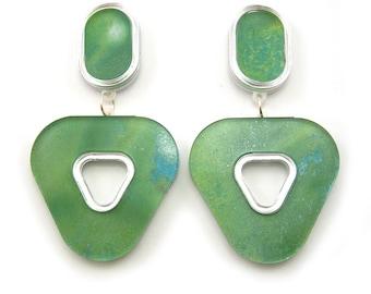 GAUSSIAN Well Rounded Marbled Statement Earrings, Drop Earrings, Watercolor, Dangle Earrings, Marble Earrings, Modern Earrings, Minimalist