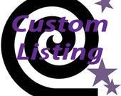 Jumbo Lawn Yard Wood Dice Custom Listing for Kathleen