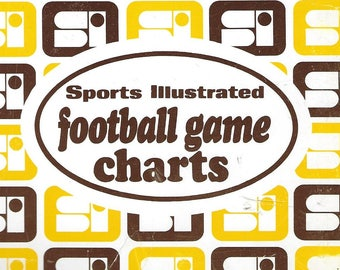 Vintage 1970's Sports Illustrated - College Football Game Charts
