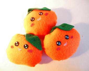 Orange Plush Brooch