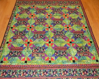 African Lap quilt handmade  70 x 76