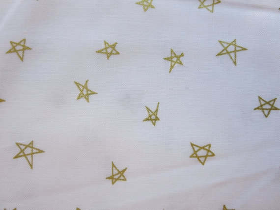 Riley Blake Fabric  - When Skies Are Grey - Skies Sparkle Stars Gold- SC5604