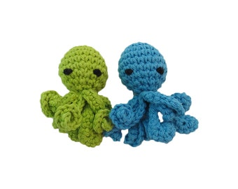 New Mini Jingle Bell Octopus Cat Toy with Long Squiggly Arms - Choose Your Colors