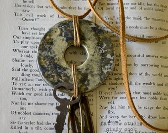 Pottery Disk Necklace