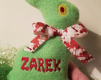 Zombie Easter Bunny Stuffie