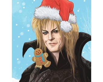 Labyrinth Jareth Christmas Card