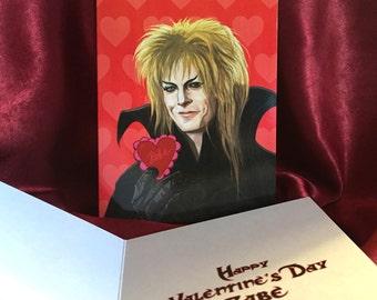 JARETH Labyrinth Valentine's Day card