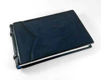 Little Navy Ledger, Leather Book, Leather Journal, Journal, Leather Bound, Bookbinding