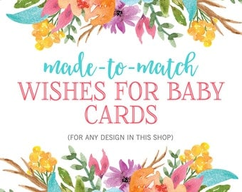Matching Wishes for Baby Cards, Printable Baby Wishes Cards, Wishes for Baby Printable, Baby Shower Printable, Baby Shower Game, DIY