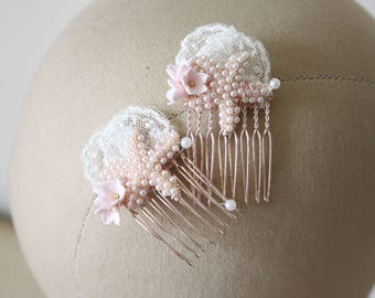 Starfish wedding combs, beach wedding hair combs, starfish hair accessory - *Ariel hair combs*