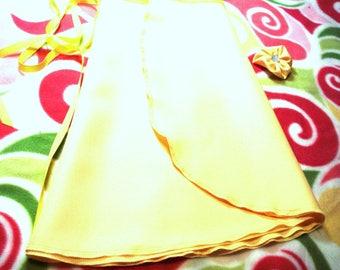 Yellow Crepe Ballet Wrap Skirt, Adult, 14 inch