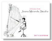 2017 Calendar, Cartoon, Wall Calendar, Humorous, Calendar, Original Art, 12 Month, Monthly Calendar, Funny, Joana Miranda Studio, 8.5x11