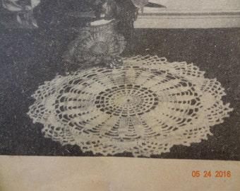 Vintage Crochet Pattern  Cape Cod Doily Pattern