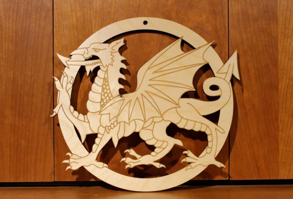 Dragon Wall Art, Warm Pot Trivet, Pattern T28, Laser Engraved, Paul Szewc, Masterpiece Laser