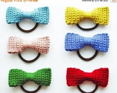 HALFPRICE Crochet Bow Hair Tie Pattern Photo Tutorial Crochet Bow Pattern Crochet Pattern Crochet Accessories Pattern Crochet Bow Crochet Ha