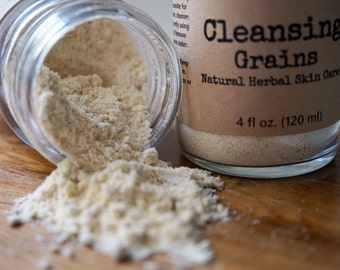 Cleansing Grains Natural Exfoliant Scrub  Natural Herbal Skin Care