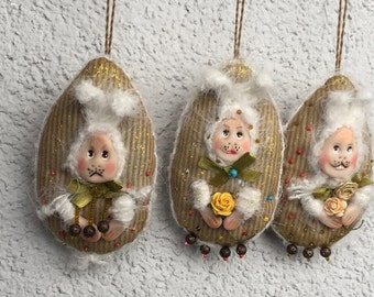 Easter decoration Handmade Easter ornament Textile Easter decoration