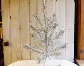 """ON SALE Vintage Tabletop Aluminum Christmas Tree - 28 inches - 28"""" Aluminum Tree - Mid-Century 1960s - Perfect for Small Spaces"""