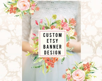 Custom OOAK Etsy Banner Avatar and New Profile Graphic Set M2M Logo By Style Me Sweet Design on Etsy Large or Small Banner Choice
