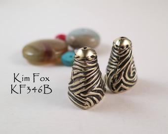 Small Swirl Cones in Golden Bronze