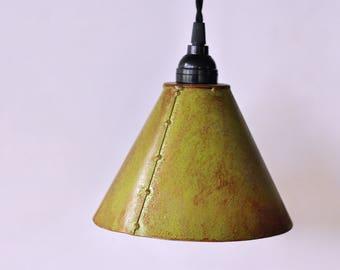 Fern Green COLORED Rustic Metal Pendant Lighting, Rustic Pendant Lights, Bar Accent Lighting