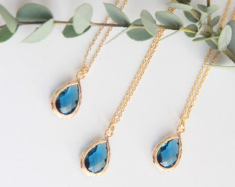 Blue Necklace, Gift for Her, Jewelry, Bridesmaid Jewelry, Bridesmaid Gift, Necklace Gift for Mom, Jewelry Gifts Wife Gift
