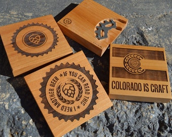 The ORIGINAL - Gear Bottle Opener & Coaster in ONE (single coaster)
