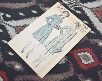 1940s Advance Dress Pattern, #2942, Size 14 (32 Bust, 35 Hip, 26 Waist)