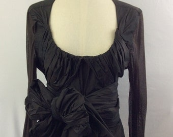 Lilith of France Avant Garde Taffeta Wrap Top