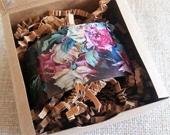 Yard Long art, Rose jewelry, Art bracelet, Rose painting, Cuff bracelet