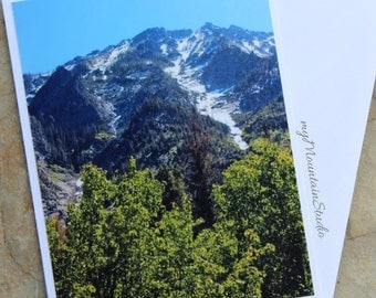 Ridge above Boulder Creek Photo Note Card - Bitterroot Mountains - Montana Nature Photography