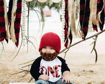 Baby Beard Beanie, hat cap custom size and color, beard hat