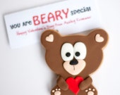Bear Valentines cookie (minimum order: 12)