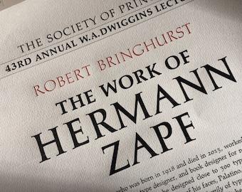 Robert Bringhurst – The Work of Hermann Zapf