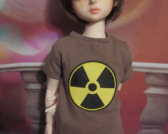 45cm MSD BJD Brown Radioactive T-shirt