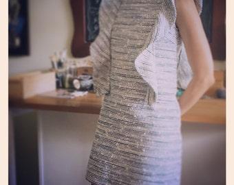 italian tweed shift dress