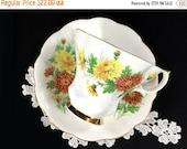 Royal Albert Chrysanthemum Teacup, Friendship Series Tea and Cup Saucer, Made in England 12683