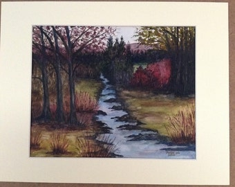 Into the Woods - Original Watercolor