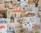 50+ vintage pieces - Ephemera Paper Pack - Inspiration Pack for Scrapbooking Collage Mixed Media Journal