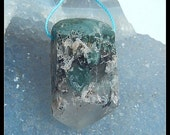 Nugget Quartz Gemstone Pendant Bead,31x17x16mm,15.4g