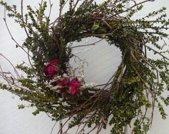 Birch Wreath Natural Wreath  Dried Wreath  Lepto Wreath  Hand Crafted Wreath  Indoor Wreath  Home Decor  Birch Twigs  Twig Wreath
