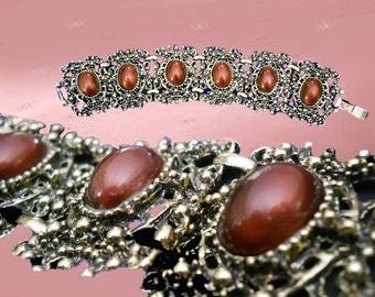 Wide Boho Bracelet - Vintage Chunky Bohemian Bracelet - 60s Wide Bracelet - Retro Bracelet - Boho Jewelry - Bohemian Jewelry - in Gift Box