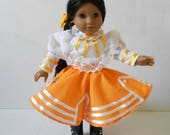 Mexican folklorico Monterrey Nuevo Leon fits 18 in dolls like American Girl and similar