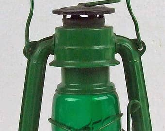 Vintage Wingedwheel Small Green Lantern Hurricane Lantern Made in Japan Excellent Condition Glamping Accessories ACTTEAM
